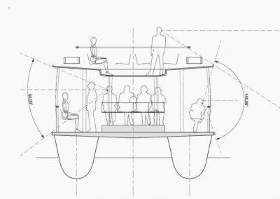 Catamaran passagers